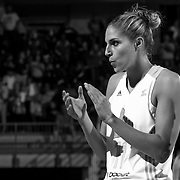 Chicago Sky Forward Elena Delle Donne (11) prepares to take the floor for WNBA preseason season game between The Chicago Sky and The Washington Mystics Tuesday, May. 13, 2014 at The Bob Carpenter Sports Convocation Center in Newark, DEL.