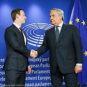 Antonio TAJANI, EP President meets with Mark ZUCKERBERG, founder and CEO of Facebook