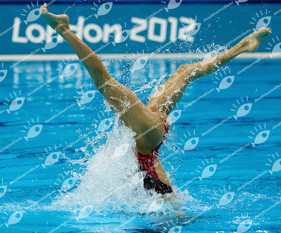 Ona Carbonell - Andrea Fuentes Spain ESP.Synchronized Swimming duet Final.London 2012 Olympics - Olimpiadi Londra 2012.day 12 Aug.7.Photo G.Scala/Deepbluemedia.eu/Insidefoto
