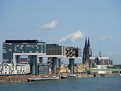 Modern commercial and residential upmarket property development in Rheinauhafen  Cologne Germany