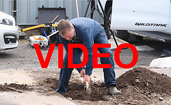 VIDEO AVAILABLE HERE: https://we.tl/gh6qsZ4IQL<br /> <br /> © Licensed to London News Pictures. 16/05/2017. London, UK. Members of a police search team use digging equipment as the search continues for the body of murdered schoolgirl Danielle Jones at a block of garages in Stifford Clays in Thurrock, Essex. The 15-year-old was last seen on Monday June 18 2001 at about 8am when she left her home in East Tilbury to catch the bus to school.  Photo credit: Ben Cawthra/LNP