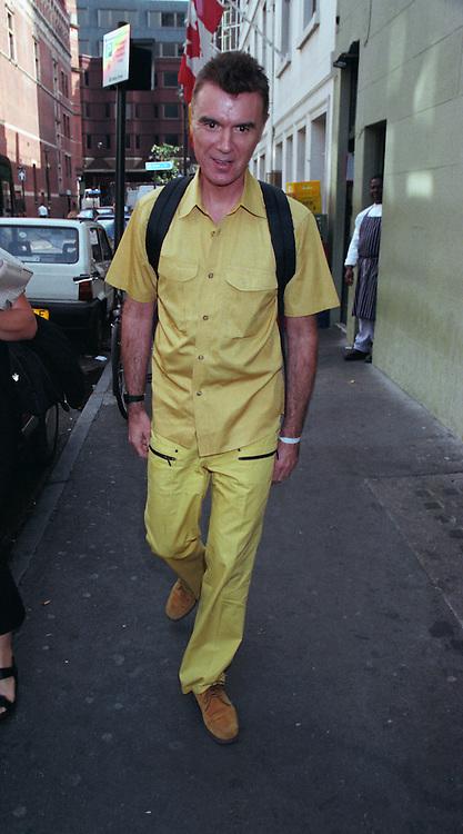 David Byrne  talking Heads soho London