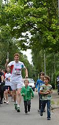 11-07-2013 ALGEMEEN: FAKKELESTAFETTE EYOF: ZEIST<br /> Vandaag was de start van de fakkelestafette voor de European Youth Olympic Festival dat zondag in stadion Galgenwaard start. In Zeist nam ex Olympier Bas de de Goor de laatste kilometer voor zijn rekening.<br /> ©2013-FotoHoogendoorn.nl