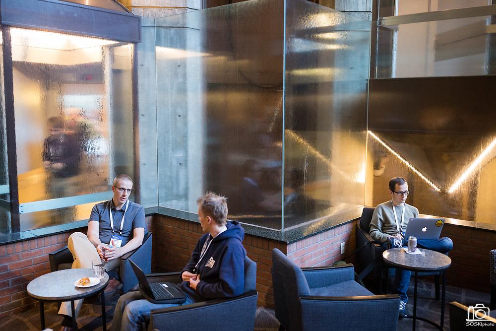 The Linux Foundation hosts its Vault Summit 2017 at the Hyatt Regency Cambridge in Cambridge, Massachusetts, on March 22, 2017. (Stan Olszewski/SOSKIphoto)