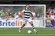 Forest Green Rovers Defender, Aarran Racine (21) during the Vanarama National League match between Maidstone United and Forest Green Rovers at the Gallagher Stadium, Maidstone, United Kingdom on 27 August 2016. Photo by Adam Rivers.