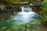 Cascade on Baring Creek, Glacier National Park, Montana USA