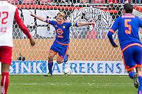UTRECHT - FC Utrecht - Feyenoord , Voetbal , Seizoen 2015/2016 , Eredivisie , Stadion de Galgenwaard  , 28-02-2016, Speler van Feyenoord Dirk Kuyt scoort de 1-2 en viert zijn doelpunt