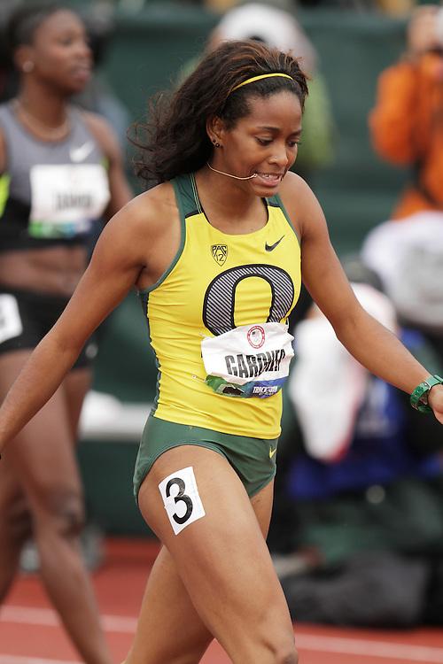 Olympic Trials Eugene 2012: wmonen's 100 meters, English Gardner