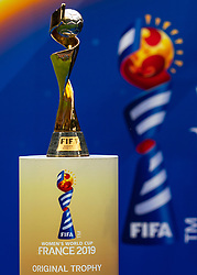 07-07-2019 FRA: Final USA - Netherlands, Lyon<br /> FIFA Women's World Cup France final match between United States of America and Netherlands at Parc Olympique Lyonnais. USA won 2-0 / World Cup Trophy