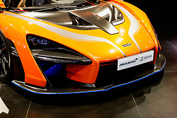 """November 7, 2018 - SãO Paulo, Brazil - SÃO PAULO, SP - 07.11.2018: SALÃO INTERNACIONAL DO AUTOMÃ""""VEL SP 2018 - In the photo, McLaren Senna, the second most expensive car at the fair, with 800 horsepower and worth R $ 8 million. The International Automobile Show of São Paulo, the largest exhibition of the automotive industry in Brazil and one of the largest in Latin America, begins this Thursday (08) at the São Paulo Expo, in the south zone of the city of São Paulo. The event takes place every two years in the city of São Paulo, with the aim of showing the latest developments in the automotive world, exposing cars, equipment and accessories. (Credit Image: © Aloisio Mauricio/Fotoarena via ZUMA Press)"""