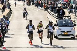 lead women at half way point<br /> Jepkosgei, Linden, Keitany<br /> TCS New York City Marathon 2019
