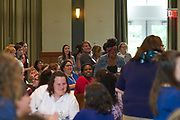 Members of the womens mentoring program interact during an ice breaker activity. Womens, mentoring, program, meet, and, greet, event, walter, rotunda