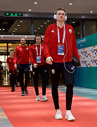 NANNING, CHINA - Thursday, March 22, 2018: Wales' Ryan Hedges arrives before the opening match of the 2018 Gree China Cup International Football Championship between China and Wales at the Guangxi Sports Centre. (Pic by David Rawcliffe/Propaganda)