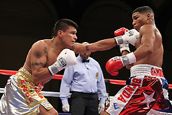 September 10, 2011; Atlantic City, NJ; Yuriorkis Gamboa and Daniel Ponce De Leon during their bout at Boardwalk Hall in Atlantic City.  Photo: Ed Mulholland/HBO
