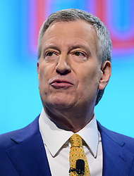 March 25, 2019 - Washington, District of Columbia, U.S. - Mayor Bill de Blasio (Democrat of New York, New York) speaks at the American Israel Public Affairs Committee (AIPAC) 2019 Policy Conference at the Washington Convention Center in Washington, DC on Monday, March 25, 2019  (Credit Image: © Ron Sachs/CNP via ZUMA Wire)