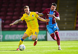 James Clarke of Bristol Rovers in action with Anthony McMahon of Scunthorpe United - Mandatory by-line: Alex James/JMP - 09/03/2019 - FOOTBALL - Glanford Park - Scunthorpe, England - Scunthorpe United v Bristol Rovers - Sky Bet League One