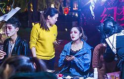 November 1, 2018 - Chengdu, Chengdu, China - Chengdu,CHINA-People wearing Halloween costumes celebrate Halloween on street in Chengdu, southwest China's Sichuan Province. (Credit Image: © SIPA Asia via ZUMA Wire)