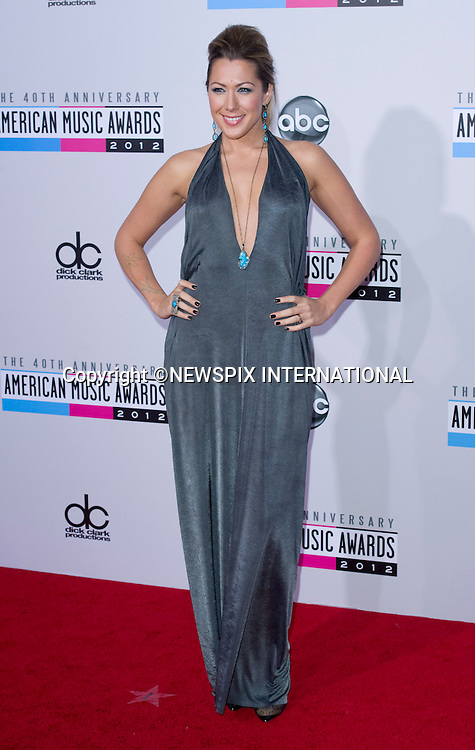 """COLBIE CAILLAT.attends the 40th American Music Awards, Nokia Theatre, Los Angeles_18/11/2012.Mandatory Photo Credit: ©Dias/Newspix International..**ALL FEES PAYABLE TO: """"NEWSPIX INTERNATIONAL""""**..PHOTO CREDIT MANDATORY!!: NEWSPIX INTERNATIONAL(Failure to credit will incur a surcharge of 100% of reproduction fees)..IMMEDIATE CONFIRMATION OF USAGE REQUIRED:.Newspix International, 31 Chinnery Hill, Bishop's Stortford, ENGLAND CM23 3PS.Tel:+441279 324672  ; Fax: +441279656877.Mobile:  0777568 1153.e-mail: info@newspixinternational.co.uk"""