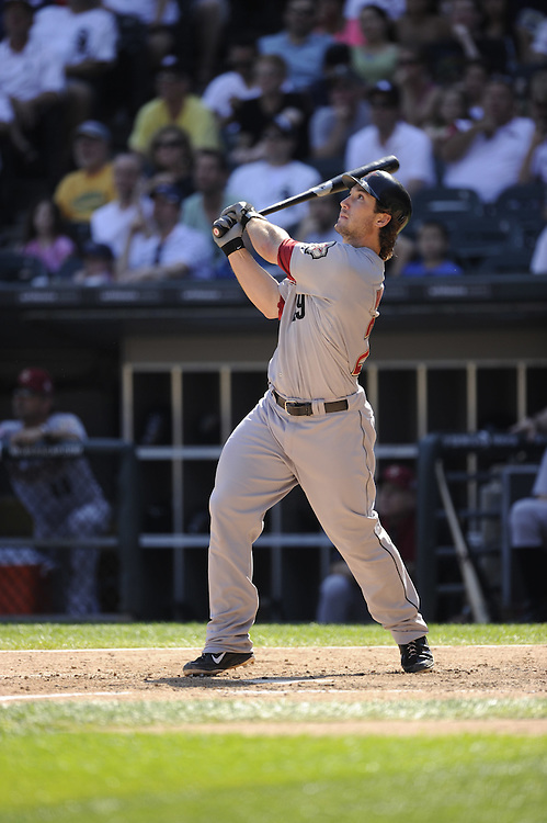 CHICAGO - JUNE 09:  Brett Wallace #29 of the Houston Astros bats against the Chicago White Sox on June 9, 2012 at U.S. Cellular Field in Chicago, Illinois.  The White Sox defeated the Astros 10-1.  (Photo by Ron Vesely)   Subject: Brett Wallace