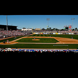 March 05, 2011; Clearwater, FL, USA; A general view during a spring training game between the New York Yankees and the Philadelphia Phillies at Bright House Networks Field. Mandatory Credit: Derick E. Hingle-USA TODAY SPORTS