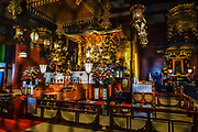 Founded in 645 AD, the popular Buddhist temple Sensoji (or Asakusa Kannon Temple) was completely rebuilt several times, mostly after World War II, in Asakusa, Tokyo, Japan.