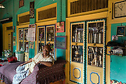 M. Sultan Abdul Kader in his home on Meah Street, Nagore.  South India.