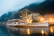 Italy, The Dolomites, Lake Garda Passenger steam ship