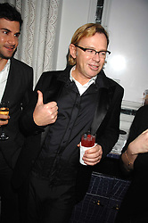 DAVID COLLINS at a party to promote The Landau at The Langham, Portland Place, London W1 on 7th February 2008.<br />