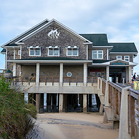 General view of Jennette's Pier in Nags Head section of the Outer Banks, North Carolina, USA