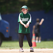 Smiles in the field during the Norwalk Little League baseball 'Champions' team V Greenwich in the Challenger Division  Recognition Day competition. The day acknowledged the many talents of the great players on the Challenger Division teams. The division has weekly games and practices for kids with special needs. Challenger division are held throughout the country.  Broad River Fields, Norwalk, Connecticut. USA. 2nd June 2013. Photo Tim Clayton