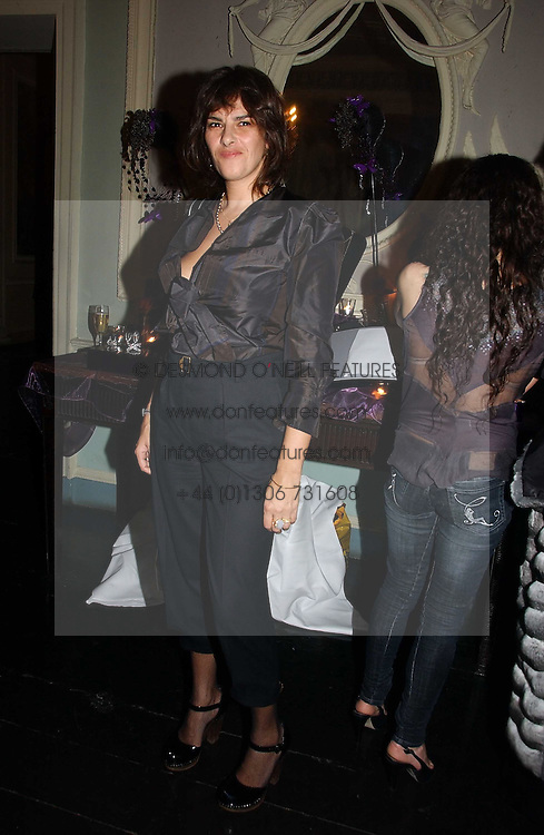 TRACEY EMIN  at jeweller Stephen Webster's Christmas party held at Home House, 20 Portman Square, London W1 on 11th December 2006.<br />