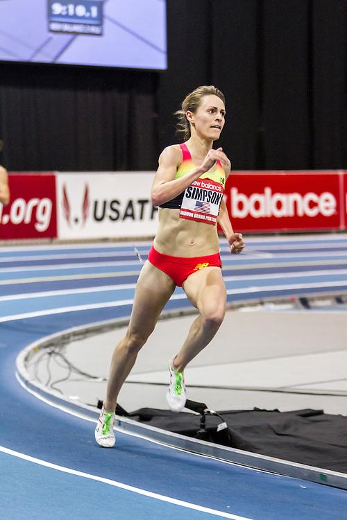 New Balance Indoor Grand Prix Track & FIeld:  women's Two Mile Jenny Simpson