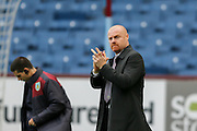 Burnley Manager Sean Dyche  during the Sky Bet Championship match between Burnley and Brighton and Hove Albion at Turf Moor, Burnley, England on 22 November 2015. Photo by Simon Davies.