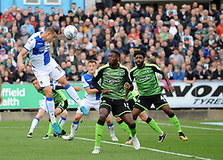 Billy Bodin of Bristol Rovers gets a header on target - Mandatory by-line: Neil Brookman/JMP - 30/09/2017 - FOOTBALL - Memorial Stadium - Bristol, England - Bristol Rovers v Plymouth Argyle - Sky Bet League One