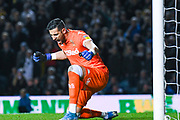 Leeds United goalkeeper Francisco Casilla (13) reacts to winning 1-0 during the EFL Sky Bet Championship match between Leeds United and West Bromwich Albion at Elland Road, Leeds, England on 1 October 2019.