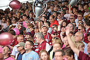 Northampton town fans during the Sky Bet League 2 match between Portsmouth and Northampton Town at Fratton Park, Portsmouth, England on 7 May 2016. Photo by Adam Rivers.