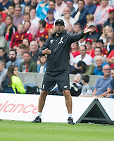 Football - 2019 / 2020 pre-season friendly - Liverpool vs. Napoli<br /> <br /> Liverpool manager Jurgen Klopp in action, at Murrayfield, Edinburgh.<br /> <br /> COLORSPORT/BRUCE WHITE