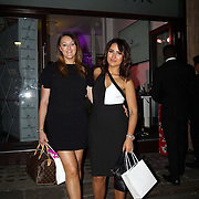 London,England,UK, 11th Aug 2016 : Taislany Gomes, fashion & beauty blogger , Olivia Nunn leaving  the wine retailer hosts summer party to sample its award-winning sparkling wine range at Icetank Studios, Lo0ndon,UK. Photo by See Li