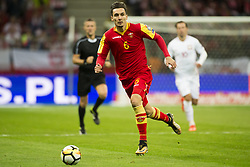 October 8, 2017 - Warsaw, Poland - Zarko Tomasevic of Montenegro during the FIFA World Cup 2018 Qualifying Round Group E match between Poland and Montenegro at National Stadium in Warsaw, Poland on October 8, 2017  (Credit Image: © Andrew Surma/NurPhoto via ZUMA Press)