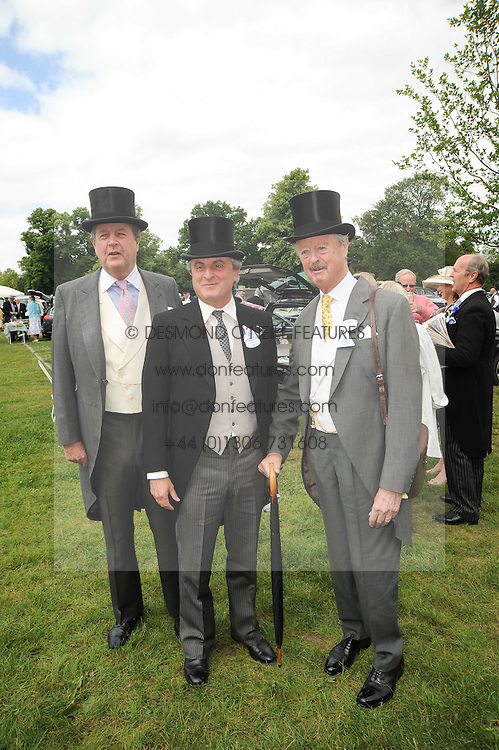 Left to right, LORD CHARLES SPENCER-CHURCHILL, VISCOUNT ASTOR and the DUKE OF MARLBOROUGH at the first day of the 2010 Royal Ascot Racing festival at Ascot Racecourse, Berkshire on 15th June 2010.