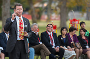 Houston ISD trustee Harvin Moore comments during a groundbreaking ceremony for the new Mandarin Chinese Language Immersion Magnet School, December 6, 2014.