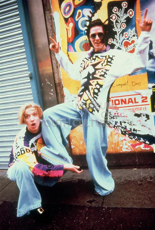 Kids wearing Joe Bloggs clothing, Manchester 1989