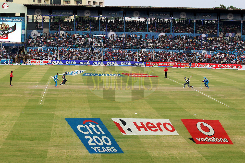 A view of  match 42 of the the Indian Premier League ( IPL) 2012  between The Deccan Chargers and the Pune Warriors India held at the Barabati Stadium, Cuttack on the 1st May 2012..Photo by: Prashant Bhoot/IPL/SPORTZPICS