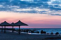 Утренняя фотосъемка для отеля Ореанда. Пляж, вид на восход солнца. Бердянск, Украина.
