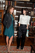 JEMIMA KHAN; BELLA FREUD, Freud Museum dinner, Maresfield Gardens. 16 June 2011. <br /> <br />  , -DO NOT ARCHIVE-© Copyright Photograph by Dafydd Jones. 248 Clapham Rd. London SW9 0PZ. Tel 0207 820 0771. www.dafjones.com.