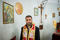 A Greek Orthodox priest in Tokaclı, Turkey. Tokaclı, located in Hatay Province, is unique in Turkey in that all its residents are Christian.