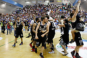 DESCRIZIONE : Capo DOrlando Campionato Lega Basket Gold Adecco 2013-14 Upea Orlandina Capo dOrlando - Trento<br /> GIOCATORE : Esultanza Vittoria Campionato<br /> SQUADRA : Trento<br /> EVENTO : Campionato Lega Basket Gold Adecco 2013-14<br /> GARA : Upea Orlandina Capo dOrlando Trento<br /> DATA : 06 06 2014<br /> CATEGORIA : Esultanza<br /> SPORT : Pallacanestro <br /> AUTORE : Agenzia Ciamillo-Castoria/G.Pappalardo<br /> Galleria : Lega Basket Gold Adecco 2013-14<br /> Fotonotizia : Capo dOrlando Campionato Lega Basket Gold Adecco 2013-14<br /> Predefinita :