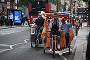 Pedicab, Oxford St. London, 21 July 2016