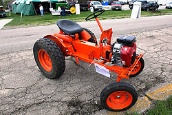 04 May 2013:   Arranged to coincide and be a part of the Red Corridor Route 66 festival, the village of Lexington hosts an antique tractor show.  Roger Whaley is the chairman of the organizing committee.  1956 Power King.