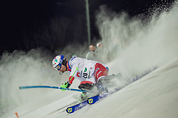 "29.01.2019, Planai, Schladming, AUT, FIS Weltcup Ski Alpin, Slalom, Herren, 1. Lauf, im Bild Luca Aerni (SUI) // Luca Aerni of Switzerland in action during his 1st run of men's Slalom ""the Nightrace"" of FIS ski alpine world cup at the Planai in Schladming, Austria on 2019/01/29. EXPA Pictures © 2019, PhotoCredit: EXPA/ Dominik Angerer"